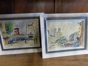 Sale 8437 - Lot 2100 - Paris Scene Watercolours by Albrecht (2)