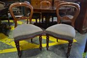 Sale 8520 - Lot 1048 - Good Set of Six Well Upholstered Victorian Balloon Back Dining Chairs