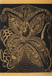 Sale 9032A - Lot 5093 - Anne Gela (1953 - ) - Kupai Kuzil 56.5 x 38cm (frame: 75 x 56 x 3 cm)