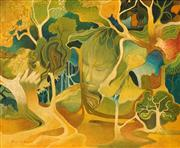 Sale 8622 - Lot 2051 - Helen Goldsmith (1937 - ) - Mother Nature, 49.5 x 59.5cm