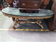 Sale 8669 - Lot 1068 - Marble Top Coffee Table with Brass base