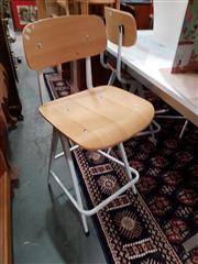 Sale 8777 - Lot 1097 - Pair of White Cramer Barstools