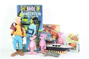 Sale 8827T - Lot 625 - Group Of Toys Incl Bride Of Frankenstein, Shell Lego Truck, & Pink Panther