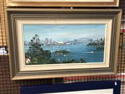 Sale 8856 - Lot 2028 - J. Hansen - View of Sydney Harbour 80 x 50cm