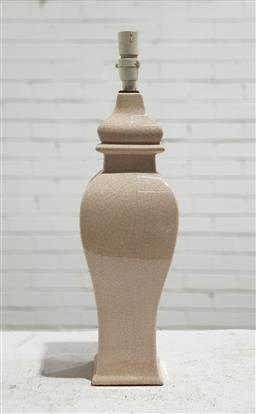 Sale 9129 - Lot 1084 - Ceramic crackle glazed urn form table lamp (h:60cm)
