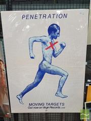 Sale 8421 - Lot 1021 - Vintage and Original Penetration Moving targets Promotional Poster (94.5cm x 71cm)