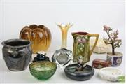 Sale 8490 - Lot 107 - Depression Glass Bowl Together With Silver Plated Ware, Danish Bowl & Stone Tree