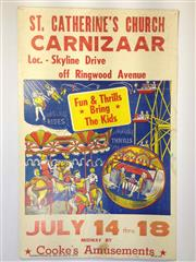 Sale 8579 - Lot 17 - A vintage C1950s Carnival Carnizaar poster with some staple holes, H 56 x W 36cm