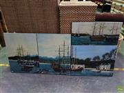 Sale 8619 - Lot 2095 - John Corbett ( 4works) - Town Harbour Scenes acrylic on canvas, each signed lower (various sizes)