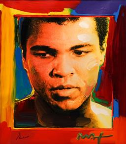 Sale 8791 - Lot 552 - Peter Max (1937 - ) - Muhammed Ali 80 x 70cm