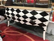 Sale 8769 - Lot 1029 - Black and White Chequered Buffet