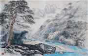 Sale 8773A - Lot 5072 - Chinese School - Running Waters (Shan Shui), Guilin, c1920 47 x 70cm