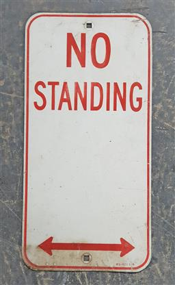 Sale 9134 - Lot 1024 - No Standing sign (h:45 x w:22.5cm)