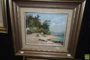Sale 8509 - Lot 2047 - Muriel Elliot (20th Century) - Summer by the River 24.5 x 29.5cm