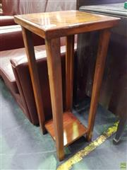 Sale 8601 - Lot 1163 - Tiered Timber Plant Stand
