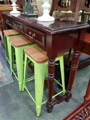 Sale 8657 - Lot 1086 - Timber Hall Table with Three Drawers