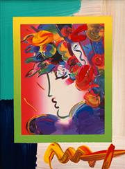 Sale 8675 - Lot 538 - Peter Max (1937 - ) - Blushing Beauty on Blends, 2006 25 x 20cm