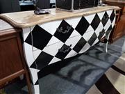 Sale 8769 - Lot 1034 - Black and White Chequered Buffet