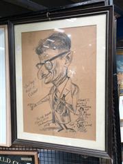 Sale 8789 - Lot 2114 - Tony Rafty, Framed Caricature