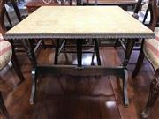 Sale 8822 - Lot 1579 - Folding Card Table with Tapestry Top