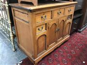 Sale 8868 - Lot 1537 - Victorian Pine Chest with 5 Drawers and 2 Doors
