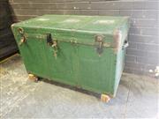 Sale 8962 - Lot 1023 - Large Painted Travelling Trunk (H:75 x W:120 x D:58cm)