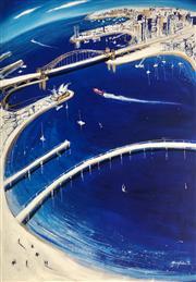 Sale 9009A - Lot 5005 - Mark Hanham (1978 - ) - Swift Blue 170 x 120 cm