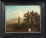 Sale 8439A - Lot 21 - Artist Unknown, C19th Italian School - Village Landscape 15 x 19cm
