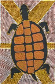 Sale 8288A - Lot 86 - Mourgen Dunken (XX) (3 works) - Turtle, Fish & Untitled, 1994 61 x 40cm, 41 x 70cm & 37 x 56cm