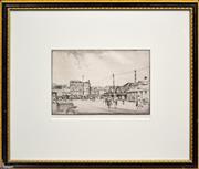 Sale 8347A - Lot 76 - Alfred (Ernest) Warner (1879 - 1968) - Circular Quay West, c1920s 14.5 x 21.5cm