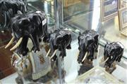 Sale 8327 - Lot 28 - Graduated Set of Four Ebony Elephants
