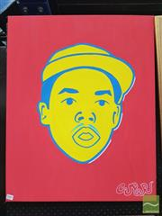 Sale 8449 - Lot 2001 - Jack Vigor (Street Artist, CASPER) - Portrait (Earl Sweatshirt) 75 x 60cm (stretched & ready to hang)