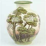 Sale 8356 - Lot 82 - Moorcroft James MacIntyre Landscape Vase