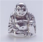 Sale 8376A - Lot 34 - An Australian Sterling Silver Buddha figure, hallmarked Collette Solid 925 Aust, ht 3.5cm wt 85.0g