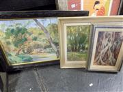 Sale 8441T - Lot 2070 - 3 Framed Country Scenes, Paintings on Board incl Mann, Nicholas & Capel