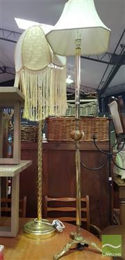Sale 8495F - Lot 1076 - Brass Standard Lamps x 2