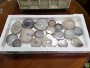 Sale 8570 - Lot 1062 - Box of Polished Agate-Quartz Slices