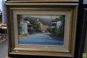 Sale 8592 - Lot 2031 - John Vander Main Street Sofala  oil on canvas on board, 30 x 44.5cm, signed lower right