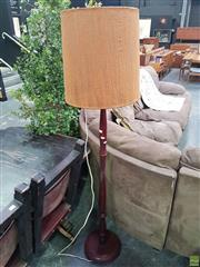 Sale 8601 - Lot 1453 - Turned Timber Standard Lamp