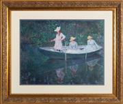Sale 8770A - Lot 53 - Claude Monet, decorative print, 81 x 96cm (framed size)