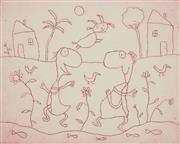 Sale 8870A - Lot 598 - Michael L. Leunig (1944 - ) - Creek Life 21 x 26 cm