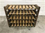Sale 9056 - Lot 1067 - Rustic Timber Cobblers Shor Rack (h:69 x w:87 x d:27cm)