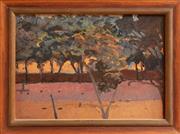 Sale 9071H - Lot 43 - David Schlunke (b.1942) - Location Study VII Evening Details verso, SLL