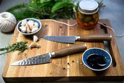 Sale 9138L - Lot 16 - USK Signature Wagyu Steak Knife Set of 2 - Walnut Wood Handle