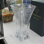 Sale 8306 - Lot 60 - Bohemian Rectangular Crystal Vase