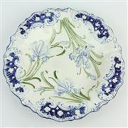 Sale 8356 - Lot 81 - Moorcroft James MacIntyre Iris Plate