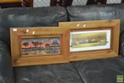 Sale 8398 - Lot 1087 - Framed Artworks x 2