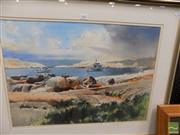 Sale 8461A - Lot 2002 - Allan Waite (1924 - 2010) - Safe Harbour 44.5 x 63cm