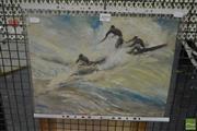 Sale 8525 - Lot 2099 - Artist Unknown - Surfers 30.4 x 40.5cm