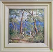 Sale 8600 - Lot 2011 - Thea Lokkers- Holiday in the Blue Mountains, acrylic on board, 44.5 x 44cm, signed lower right